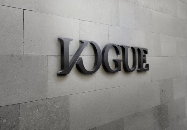 Vogue 3D Letter
